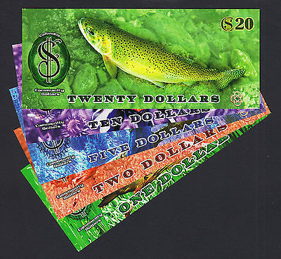 Canada 2013 POLYMER Local Currency BC, COMMUNITY Dollars $1 to $20 (5 Pcs) UNC
