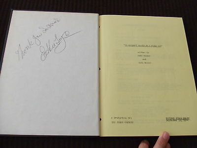 SIGNED 1974 Couldn't Happen to a Nicer Guy ABC MOW TV Movie Script HC Bound FOY