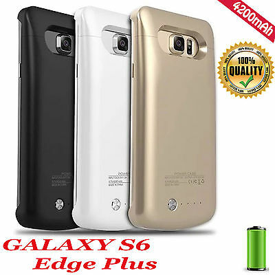 For Samsung Galaxy S6 edge Plus External Battery Backup Case Charger Power Bank