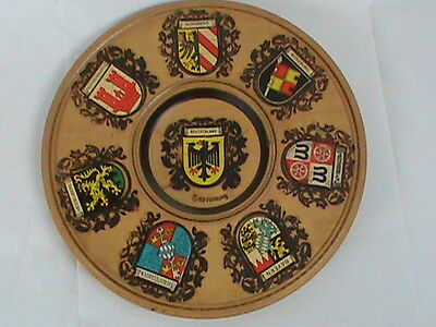 Germany Deutschland Coat of Arms Wooden Wall Plate