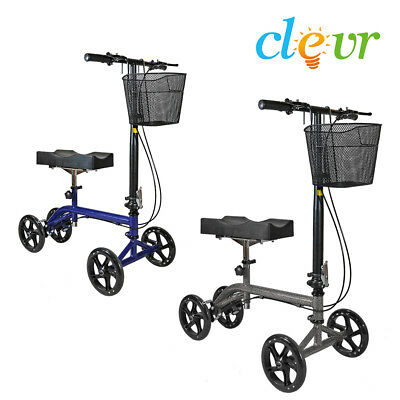 Clevr Foldable Medical Steerable Knee Walker Scooter Crutch Alternative