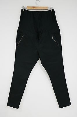 Super Cute Next Black Stretch Skinny Leg Maternity Pants Jeans Ladies Size 14