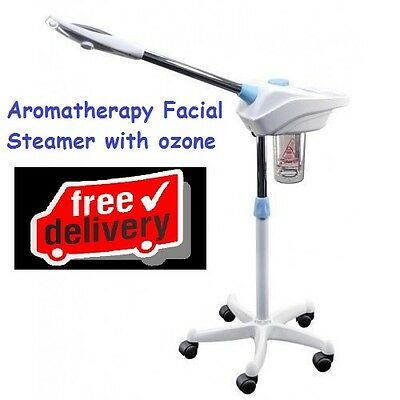2 in 1 Facial Steamer with Ozone - Aromatherapy Basket 2 Separate Functions