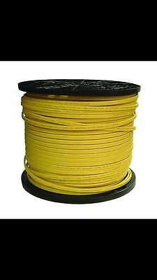 12/2 Romex Electrical Wire 1000 foot Yellow Jacket on Plastic Spool W/Ground