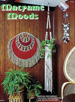 Macrame Moods Book Plant Hanger Curtain Placemat Wallhanging