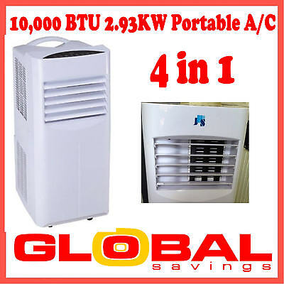 NEW REVERSE CYCLE 10000BTU PORTABLE 4-in-1 AIR CONDITIONER HUMIDIFIER HEATING