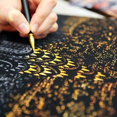 Fashion Gold Scratch Art Painting Paper New York Night View Baby  Drawing Toy FB