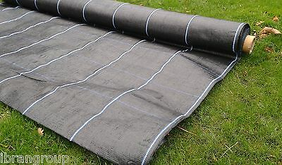 Ground cover membrane Heavy Duty 100gsm weed suppressant 2m x 10m Line Rule