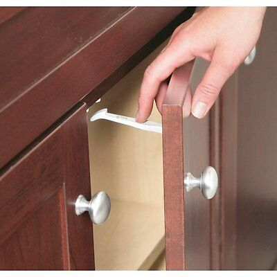 Grip Lock Latch 14 Pack Cabinet Baby Child Safety Proof Drawer Locks Latches