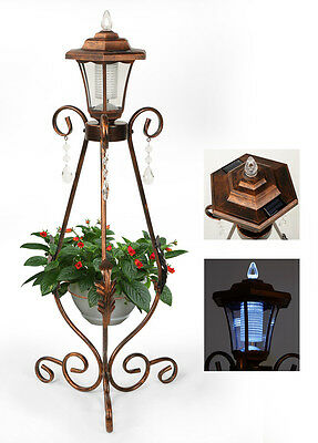 Garden Solar Energy Decorative Metal Stands Flower, Plant Pot Rack Display Shelf