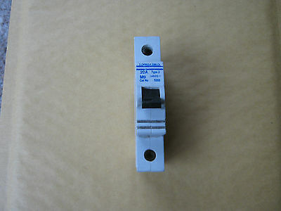 Dorman Smith 20A 20 Amp Type 2 M6 As202 Single Pole Mcb Circuit Breaker