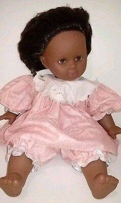 Zapf Creations Big BLACK 53cm Vintage Doll Soft Body Hair & ORIGINAL OUTFIT