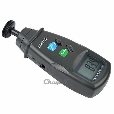 Adjustable Handheld Tachometer 3 Modes Rotation Meter Contact Tachometer Tester