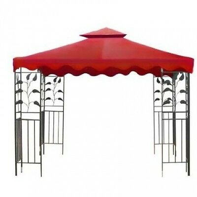 3m X 3m All Weather Red Garden Canopy Gazebo Replacement Canopy Top. Shipping is
