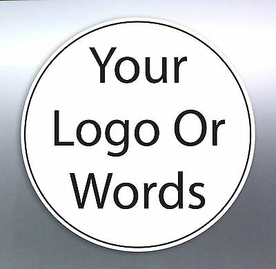Business Shop Front stickers Size round circle logo work sign custom made new