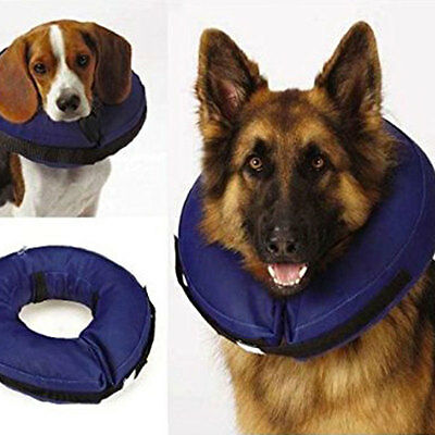 Inflatable Collar Dog Soft E-Collar Pet Healing Protection Head Cone S/M/L Size