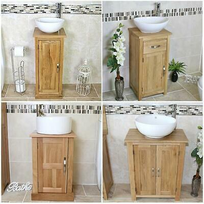 Solid Oak Bathroom Cabinet | Oak Under Sink Bathroom Cabinet | Bathroom Vanity