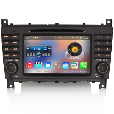 """7"""" Car Android 6 WiFi GPS Sat-Nav DVD Stereo DAB Radio For Mercedes C-Class W203"""