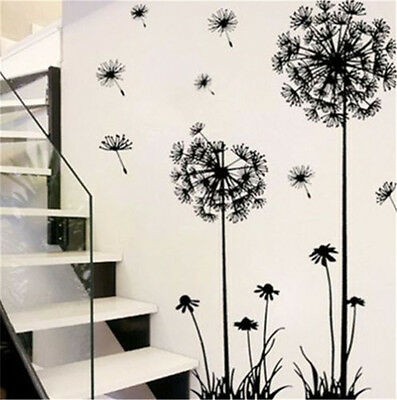 Creative Dandelion Wall Sticker Removable Mural PVC Home Room Art Decor Decal UK