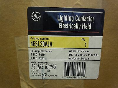 NEW NOS GE CR463L20AJA Electricity Held Lighting Contactor 2 N.O. Poles 30A
