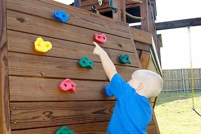 BLUE OR RED ROCK WALL HOLD Plastic Hand Foot Hold Child Kid Sand Upper Body Kit