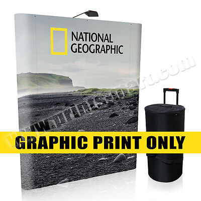Replacement Graphic 6' Trade Show Pop Up Display Banner Stand Exhibits Banner