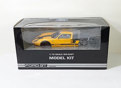 Beanstalk Group Ford GT Concept 1:18 Scale Diecast Car Model Kit Yellow MIB