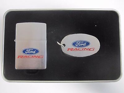 Zippo Lighter Ford Racing Gift Set Windproof Unstruck Retired
