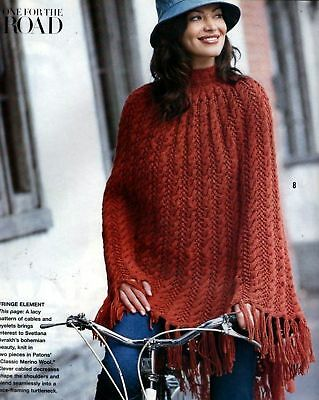 Vogue Knitting Pattern Poncho Long Sweater Coat Holiday 2004 - 34 Designs