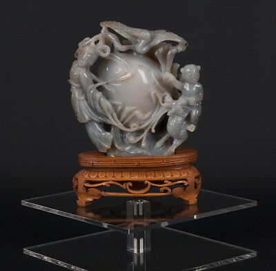 China 19./20. Jh. Figur - A Chinese Agate Carving Of Chang'e - Cinese Chinois