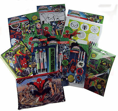 Spiderman 9 Piece Christmas Art Craft Toys - Sack / Stocking Fillers