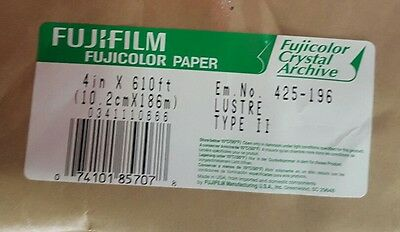 new fujifilm fujicolor lustre paper type II crystal archive 4inx610ft 1roll