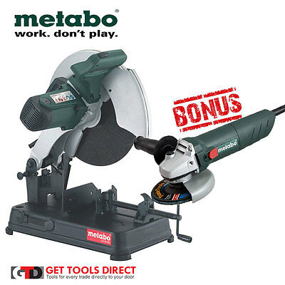 New Metabo CS23-355 2300W Metal Cut Off Saw And Bonus Grinder 3 Year Warranty