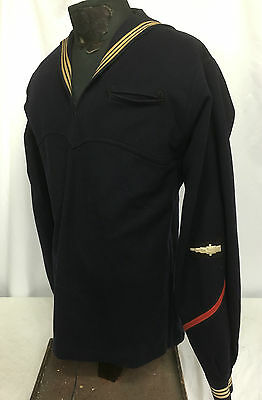 1930's US Navy Boatswain's Mate Gun Captain Dress Blue Jumper Top