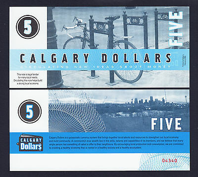 Canada Local Currency CALGARY 5 Dollars UNC