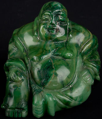 China 20. Jh. Chinese Hardstone / Jade Carving of Pu-tai Ho-shang Cinese Chinois