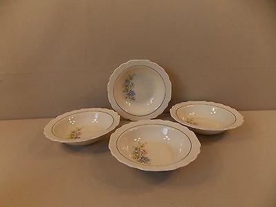 """W.S. George """"GEO297"""" 4 Cereal Bowls"""