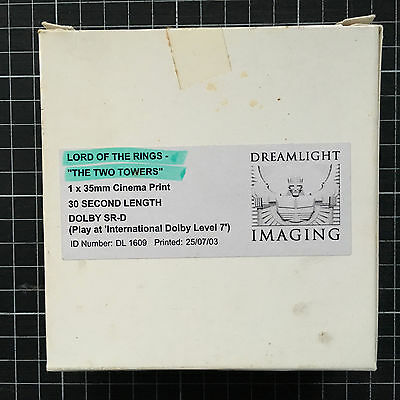 35mm movie film ad LORD OF THE RINGS TWIN TOWERS video commercial advertising