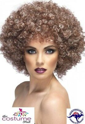 70s Curly Brown Afro WIG 1970s Disco Divas Party Accessory