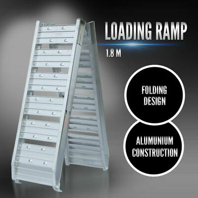Loading Ramp Aluminium 1.8m Folding QUAD ATV Ramp Motorbike Motorcycle Trailer