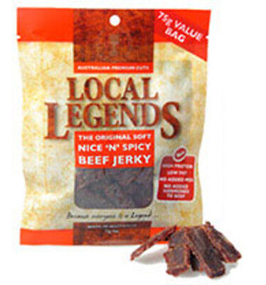 Local Legends Spicy Beef Jerky 25g x 12