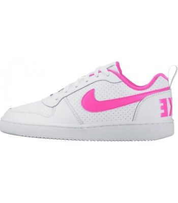 Nike Court Borough low Sneakers Bassa Modello Air Force Pelle Uomo Donna  Bianco 34a23e00ec7