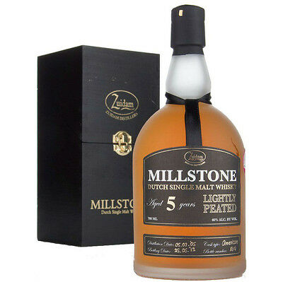 Zuidam Distillers Millstone 5 Year Lightly Peated Dutch Whisky 700mL