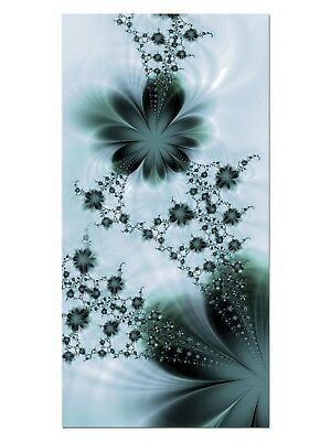 HD GlasBild, Wandbilder XL 50 x 100 cm, EG4100502351 FLOWER FLY BLUME BLAU ABSTR