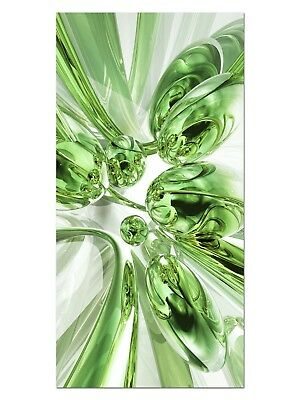 HD GlasBild, Wandbilder XL 50 x 100 cm, EG4100502285 BUBBLES DESIGN GRÜN ABSTRAK