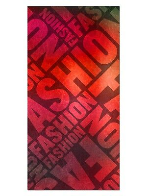 HD GlasBild, Wandbilder XL 50 x 100 cm, EG4100502133 FASHION DESIGN ROT ABSTRAKT