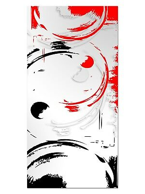 HD GlasBild, Wandbilder XL 50 x 100 cm, EG4100502044 CLEAN DESIGN ROT ABSTRAKT