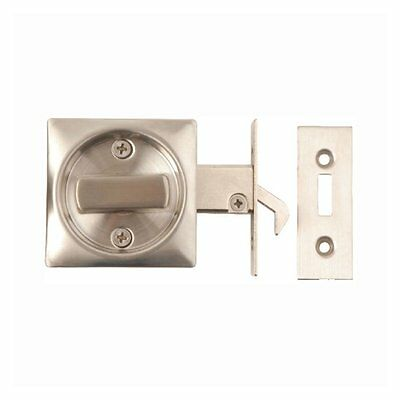 SLIDING DOOR LOCK Bathroom Hook Privacy Square Turn Toilet WC Stainless Steel