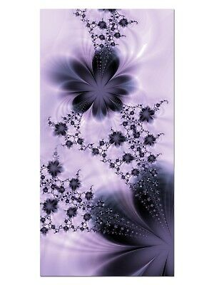 HD GlasBild, Wandbilder XL 50 x 100 cm, EG4100502350 FLOWER FLY BLUME LILA ABSTR