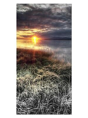 HD GlasBild, Wandbilder XL 50 x 100 cm, EG4100502417 SEE LANDSCHAFT ORANGE LANDS